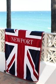 Union Jack flag Beach Towel